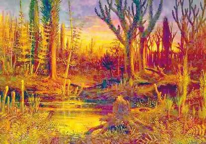 В девонский период (419–359 млн лет назад) растения заполонили сушу