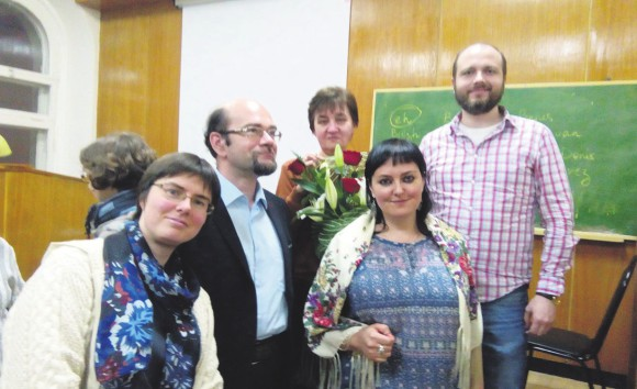 Слева направо: Елена Парина, Андрей Сидельцев, Татьяна Михайлова, Анна Мурадова, Виктор Байда