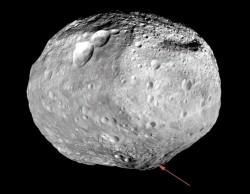 Астероид Веста. Фото: Down (NASA)