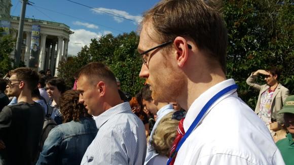 А.Навальный и А.Заякин. Митинг в защиту науки и образования