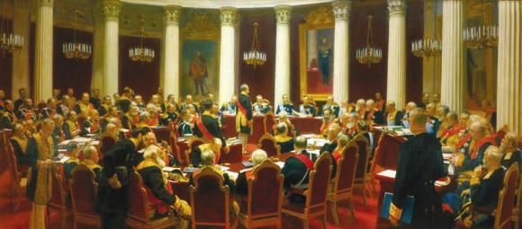 Иван Репин. Торжественное заседание Государственного совета 7 мая 1901 года. (1903)