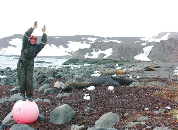 Почвовед в Антарктиде: мечта сбылась. Фото Е. Абакумова