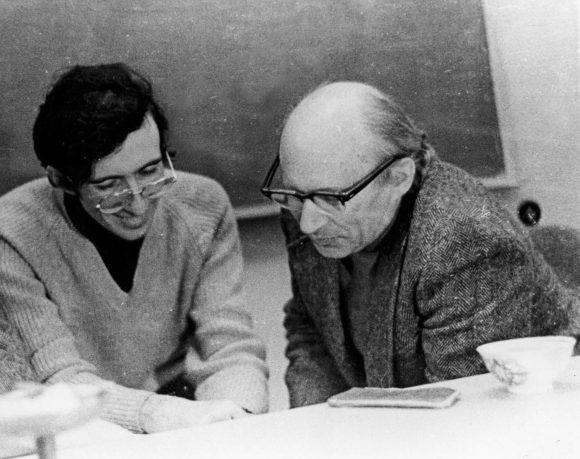 Л. Б. Марголис и И. М. Гельфанд. МГУ, 1977 год