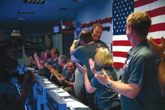 5 июля 2016 года в офисе Jet Propulsion Laboratory праздновали успех