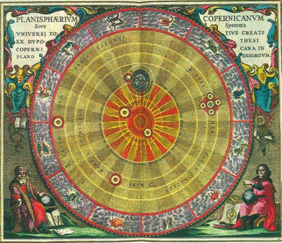 Иллюстрация из атласа звездного неба «Гармония Макрокосмоса» (1660)