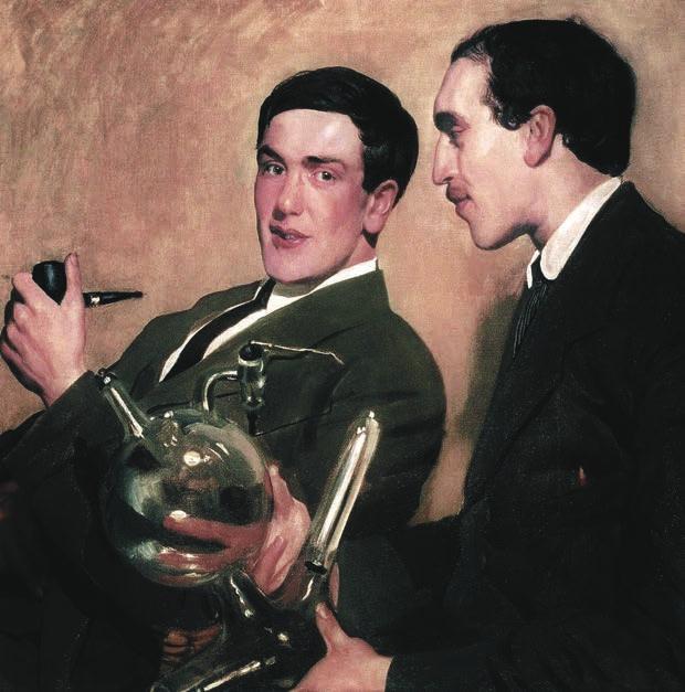 Семёнов и Капица. Портрет работы Кустодиева. 1921 год