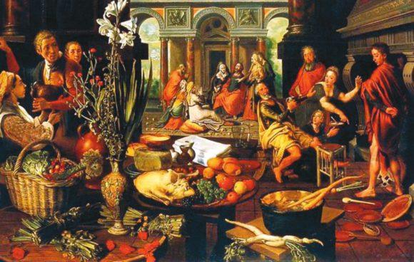 Рис. 3. Христос в доме с Марией и Марфой. 1552. Вена, Музей истории искусств (Австрия)