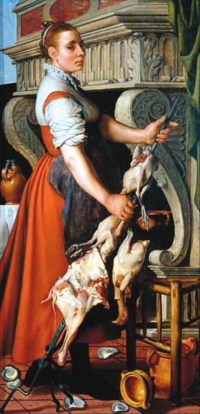 Рис. 1. Кухарка. 1559. Гаагский муниципальный музей (Нидерланды)