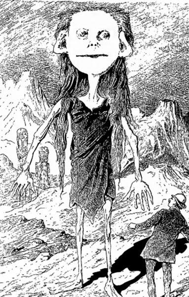 Селениты по Фору и Графиньи. Иллюстрация с сайта www.gutenberg.org