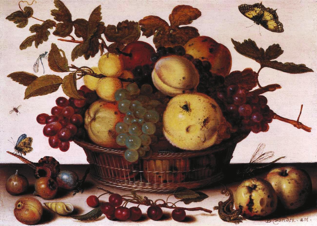 Балтазар ван ден Аст (Balthasar van der Ast). Корзина с фруктами. Около 1625