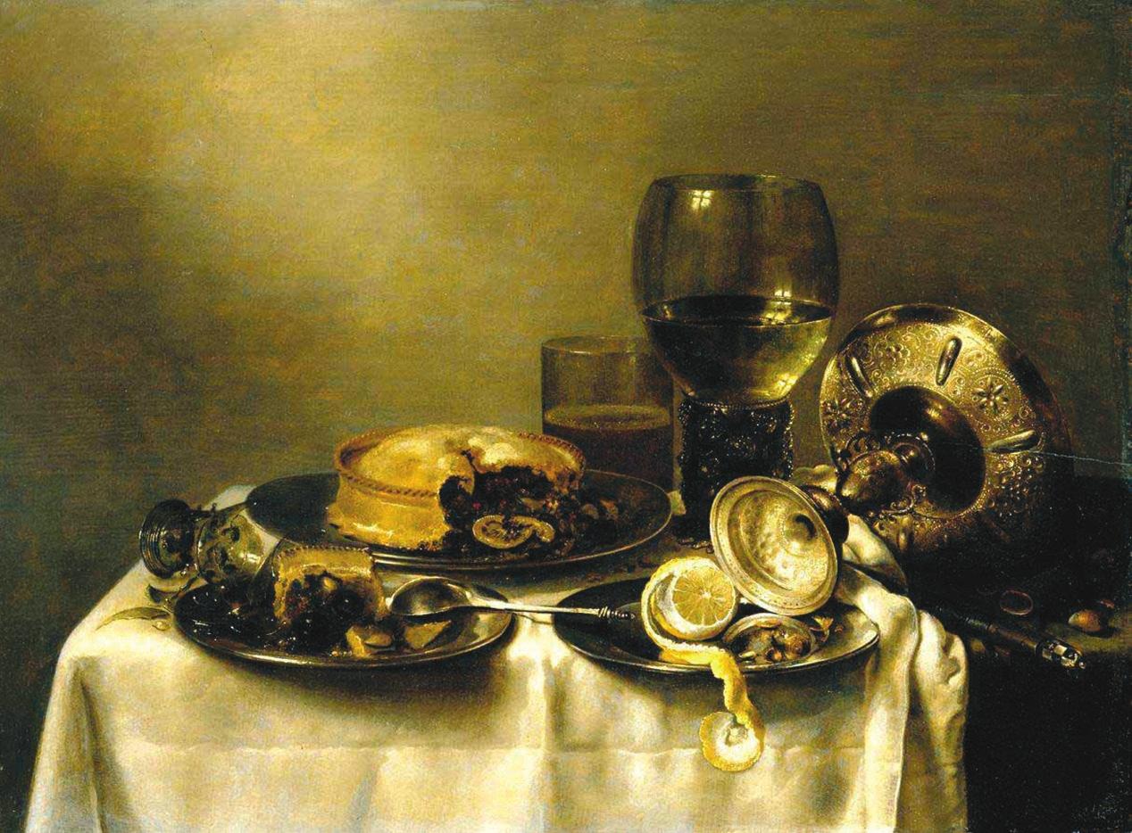 Виллем Клас Геда. Завтрак с ежевичным пирогом. 1631 (Датировки приведенных картин различаются в зависимости от источника)