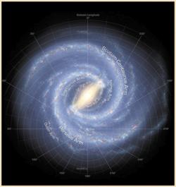 Изучение рукавов Млечного Пути. Изображение NASA/JPL-Caltech