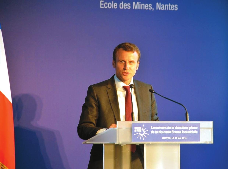Новый президент Франции Эммануэль Макрон. Фото пресс-службы Institut Mines-Télécom Atlantique с сайта http://web.emn.fr/x-com/albums/visite-emmanuel-macron/