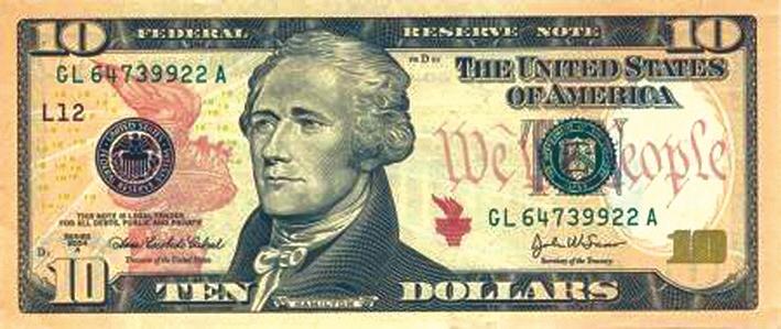 9. Александр Гамильтон, первый секретарь Казначейства США, отец американского доллара