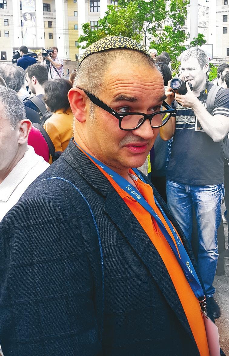 Антон Носик на митинге в защиту «Династии» 6 июня 2015 года