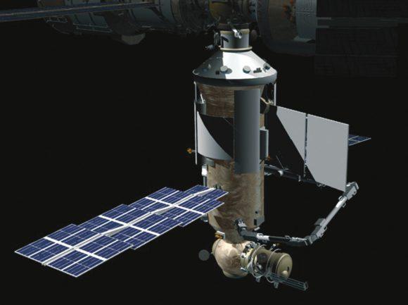 Многоцелевой лабораторный модуль «Наука». Эскиз («Википедия»)