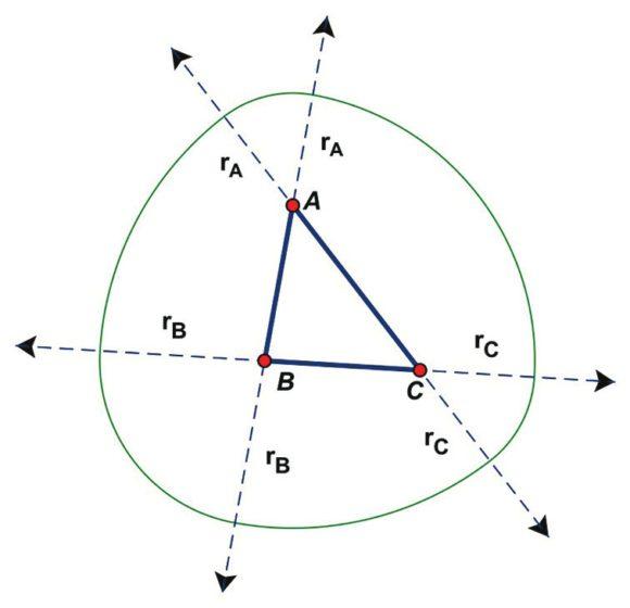16. Неправильный треугольник постоянного диаметра со сглаженными углами [4]