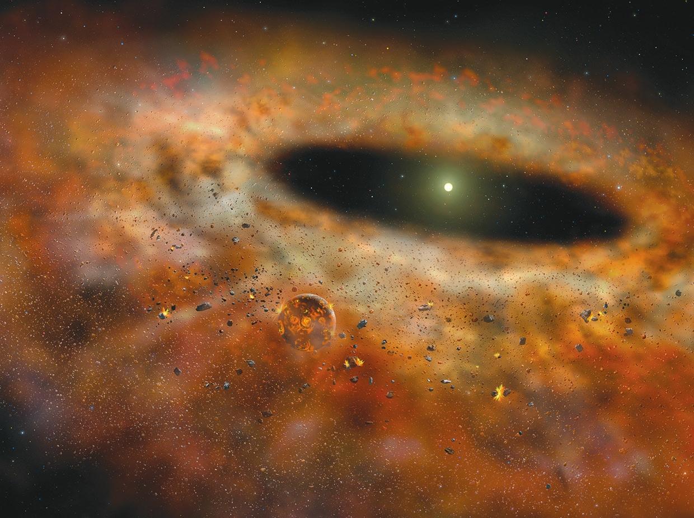 Протопланетный диск в представлении художника (Gemini Observatory/AURA Artwork by Lynette Cook)