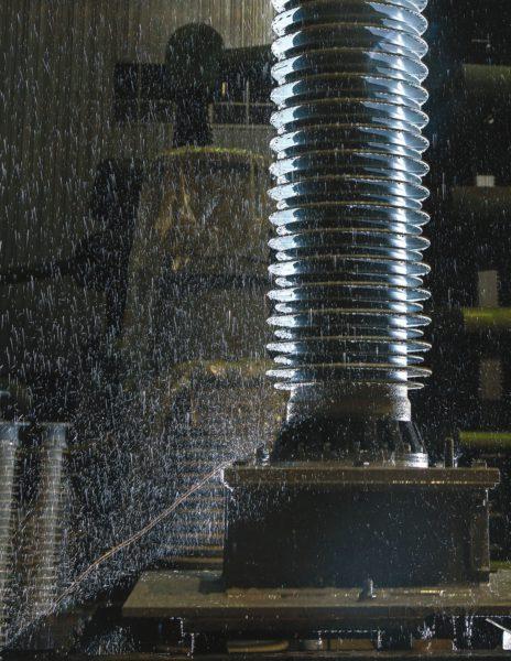 ВВ испытания трансформатора под соляным дождем
