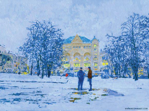 Семён Кожин. Политехнический музей. Холст, масло, 2013