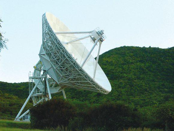 Один из десяти радиотелескопов VLBA. Американские Виргинские острова. («Википедия»)