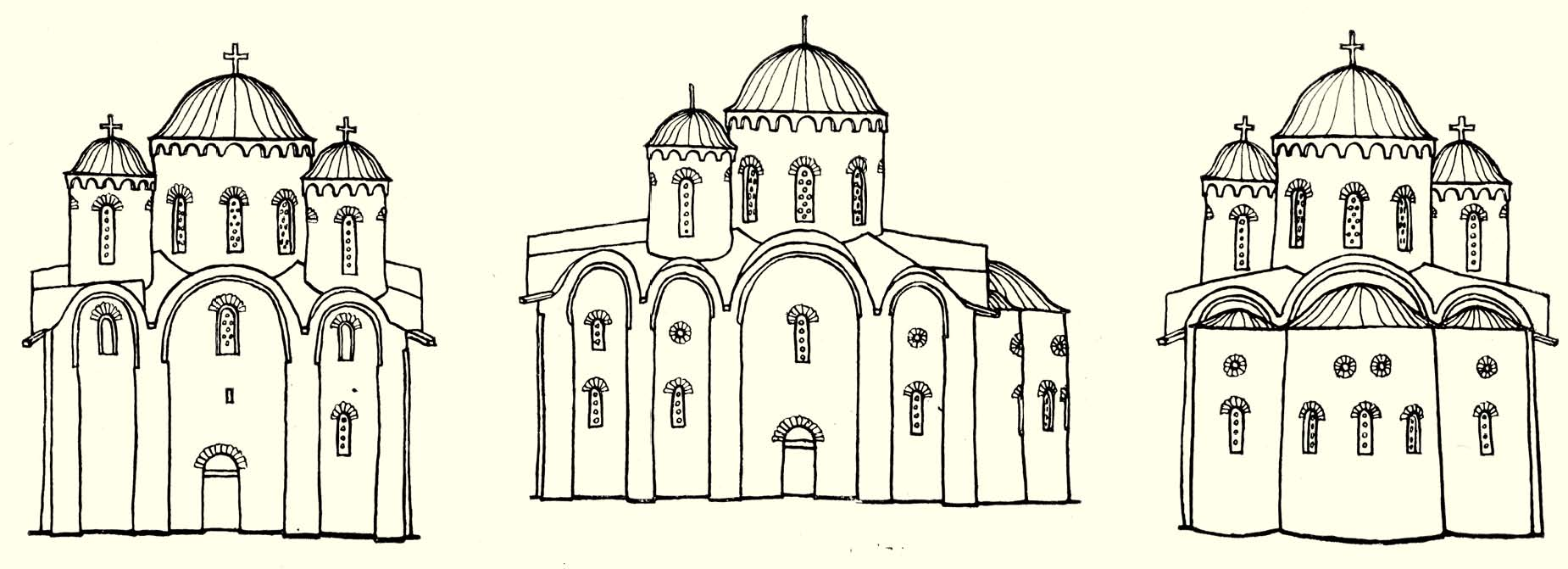 Первоначальный облик храма. Реконструкция С.П. Михайлова
