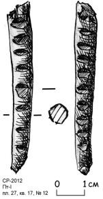 5. Счётная бирка, можжевельник. Пятницкий раскоп