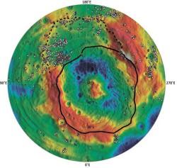 Топографическая карта Весты