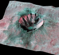 Кратер Корнелия на Астероиде  Веста