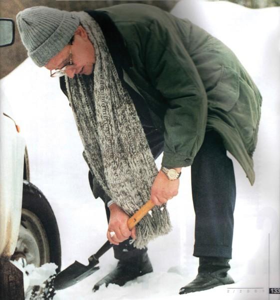 Заснеженные дороги Подмосковья (2001 год). Фото А. Соломонова
