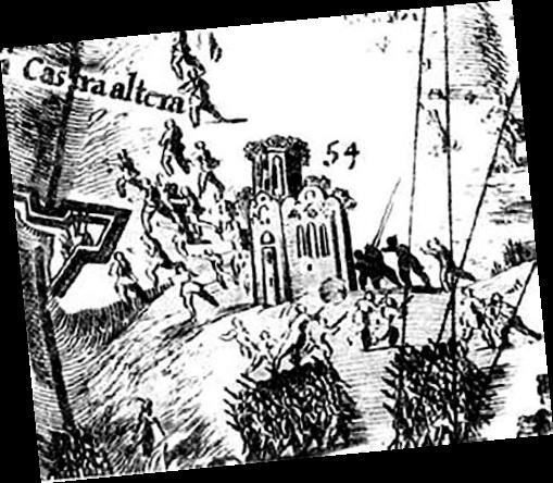 Свирская церковь на плане XVII века