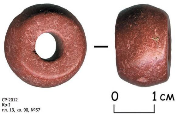 Шиферное пряслице (грузик на веретено)