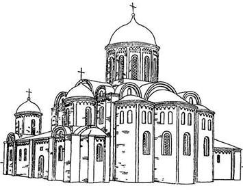 Реконструкция первоначального облика храма П. Раппопорта и Н. Воронина