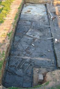 Остатки средневековой застройки на курортном-1 раскопе