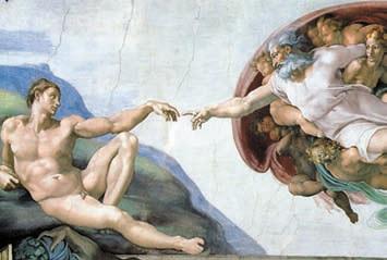 Микеланджело. «Сотворение Адама»