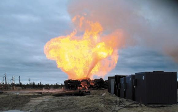 Дислокация комплекса МЛТК-20 вблизи фонтанирующей аварийной скважины