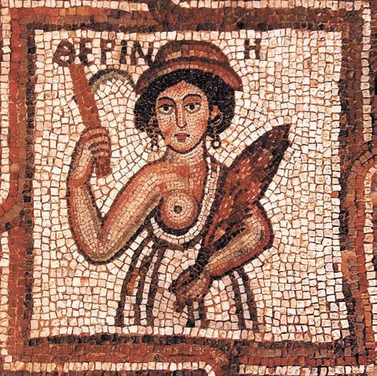 Ранневизантийская мозаика в церкви города Петра (нынешняя Иордания)