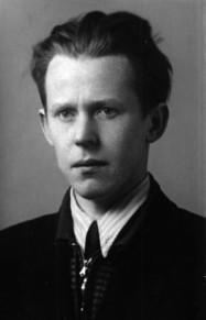 В. Дыбо. Студент историко-Филологического факультета Горьковского университета. 1950 год