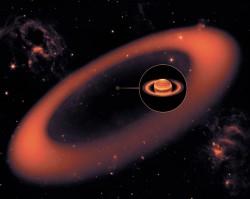 Новое гигантское кольцо вокруг Сатурна