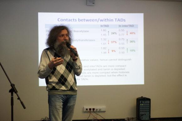 Михаил Гельфанд на конференции в Сколтехе