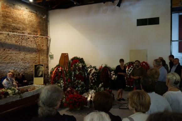 Церемония прощания в Сахаровском центре