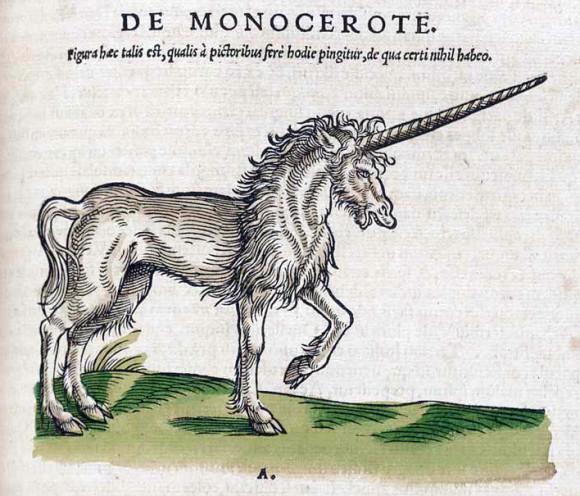 Единорог. Конрад Гесснер. «Historiae Animalium» (1551). Источник: https://fr.wikipedia.org/wiki/Licorne