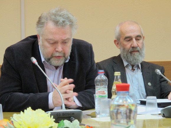 Вадим Васильев и Андрей Цатурян на обсуждении законопроекта