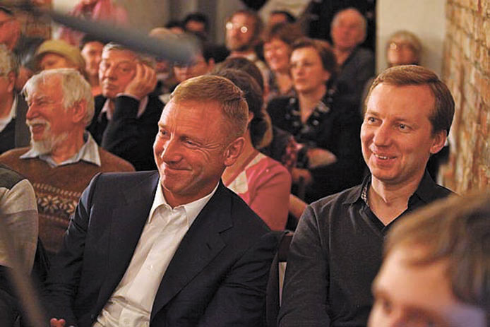 Министр образования и науки РФ Дмитрий Ливанов, биолог Евгений Шеваль. Фото Н. Четвериковой