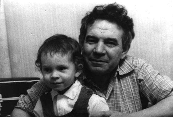 Роберт Минлос c сыном Филиппом, 1977 год