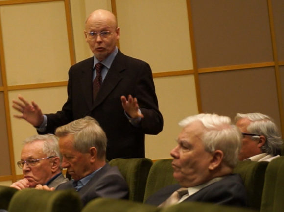 Алексей Паршин на встрече с кандидатами в президенты РАН