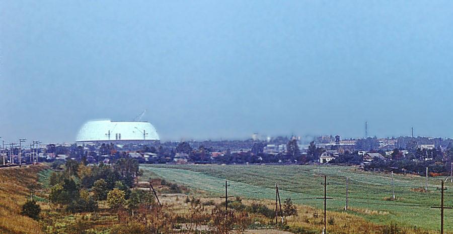 Купол ВЭИ в Истре в процессе строительства