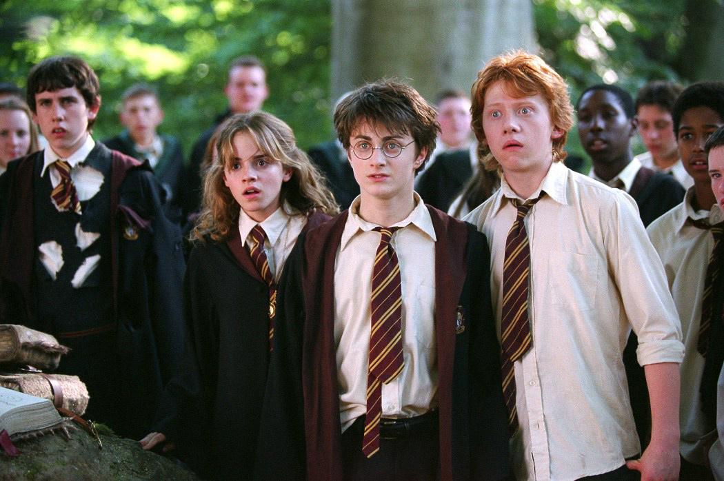 Гермиона, Гарри и Рон (кадр из фильма «Гарри Поттер и узник Азкабана»)