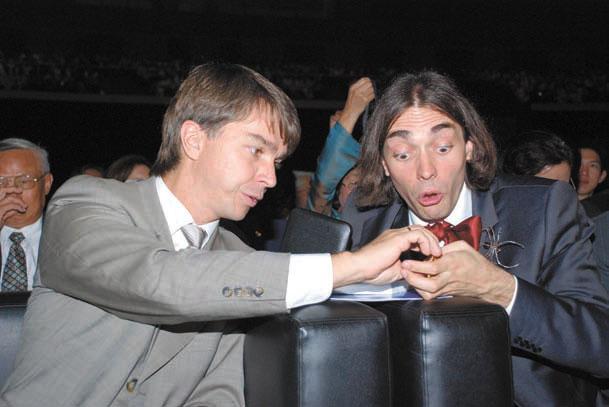 Станислав Смирнов и Седрик Виллани после вручения им Филдсовских медалей (2010)