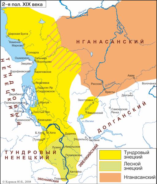 Лингво-географические ареалы. XIX век